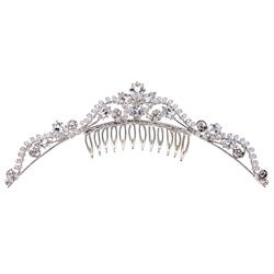 Tacori Bridal Evening Sterling Silver White Topaz and Crystal Tiara