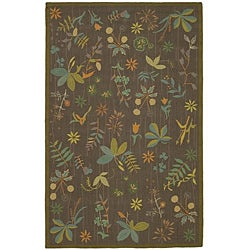 Martha Stewart Grove Twig Olive Green Wool Rug (7'9 x 9'9)