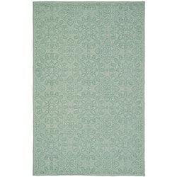 Martha Stewart Terrazza Turquoise Cotton Rug (2'6 x 4'3)
