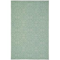 Martha Stewart Terrazza Turquoise Cotton Rug (3'9 x 5'9)
