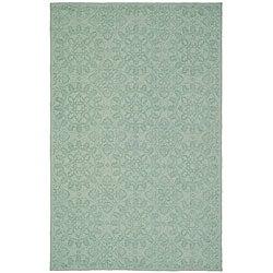 Martha Stewart Terrazza Turquoise Cotton Rug (5'6 x 8'6)