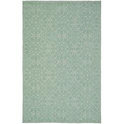Martha Stewart Terrazza Turquoise Cotton Rug (7'9 x 9'9)