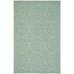 Martha Stewart Terrazza Turquoise Cotton Rug (8'6 x 11'6)