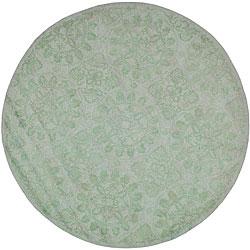 Martha Stewart Terrazza Turquoise Cotton Rug (6' Round)
