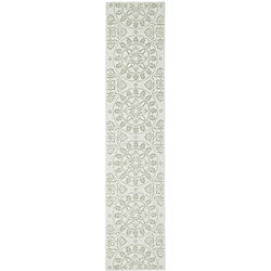Martha Stewart Terrazza Shale Grey Cotton Runner Rug (2'3 x 10')