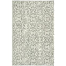 Martha Stewart Terrazza Shale Grey Cotton Rug (3'9 x 5'9)