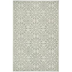 Martha Stewart Terrazza Shale Grey Cotton Rug (5'6 x 8'6)