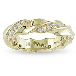 18k Yellow Gold 2/5ct TDW Diamond Fashion Ring (G-H, VS1-VS2)