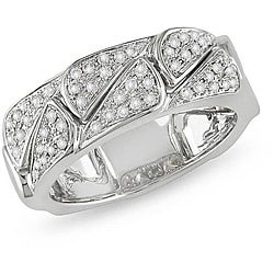 Miadora 18k White Gold 1/3ct TDW Diamond Ring (G-H, SI2)