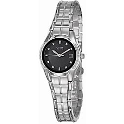 Citizen Women's 'Eco-Drive' Stainless Steel Quartz Diamond Date Watch