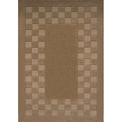 Hand-tufted Trendy Tan Wool Rug (8' x 11')
