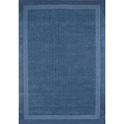 Hand-tufted Blue Dot Wool Rug (8' x 11')