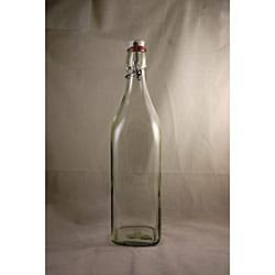 Clear Glass Swing Bottles with Ball Style Clamp Lid (Pack of 2)
