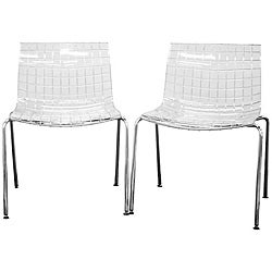 Obbligato Transparent Acrylic Accent Chairs (Set of 2)