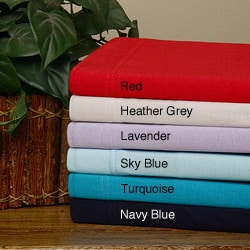Red Combed Cotton Jersey Queen-size Sheet Set | Overstock.com