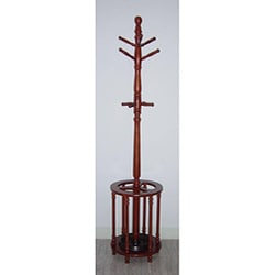 Oak Wood Coat Rack Hanger/ Umbrella Stand