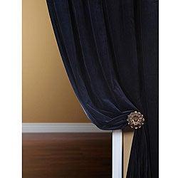 Signature Royal Blue Velvet 108-inch Curtain Panel