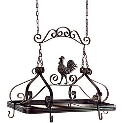 Handcrafted Americana Country Chicken Hanging Pot Rack