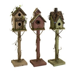 Set of 3 Nottingham Freestanding Birdhouses