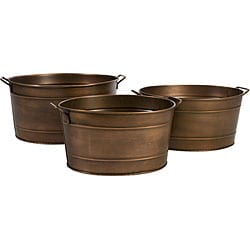 Set of 3 Oblong Argento Mirage Planter