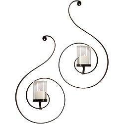 Set of 2 Argento Spiral Sconces