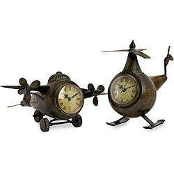 Set of 2 Regent Fly Boys Aviation Clocks