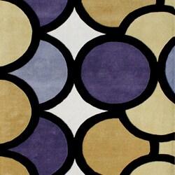 Alliyah Handmade Green New Zealand Blend Wool Rug (5' x 8')