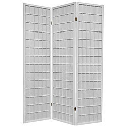 Oriental Shoji 3-panel White Room Divider Screen