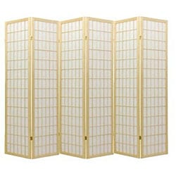 Oriental Shoji Natural 6-panel Room Divider Screen