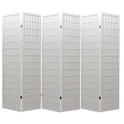Oriental Shoji White 6-panel Room Divider Screen