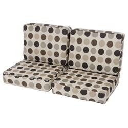 Saranac Teak Loveseat Cushion Set Made with Sunbrella Fabric