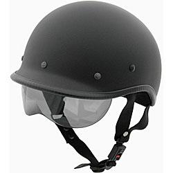 DOT Polo Jockey Flat Black Motorcycle Helmet