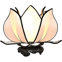 Silk Baby Blooming Lotus White Table Lamp (Vietnam)