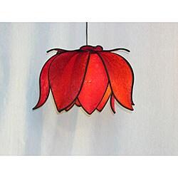 Silk Blooming Lotus Solar Hanging Lamp (Vietnam)