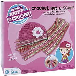 Learn To Crochet Hat and Scarf Activity Kit