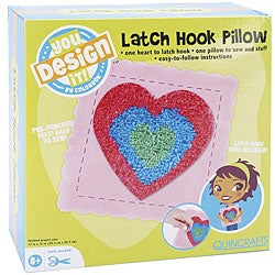 You Design It Latch Hook 12x12-inch Heart Pillow Kit