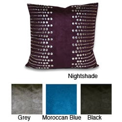 Side-studded Faux Suede Decorative Pillow