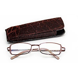 Women's Brown Rhinestone Computer Reading Glasses