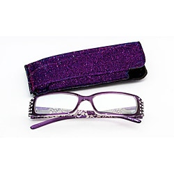 Women's Purple Rhinestone Computer Reading Glasses