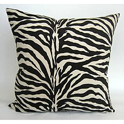 Zebra 24-inch Feather and Down Throw Pillow