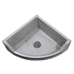 Corner Mop Sink : Crane Terrazo 28-inch Neocorner Drop Front Mop Service Basin ...
