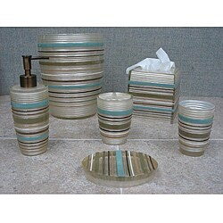 Sherry Kline Elegy Stripe 6-piece Bath Accessory Set