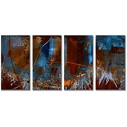 Ruth Palmer 'Urban Feel' 4-piece Metal Wall Art Set
