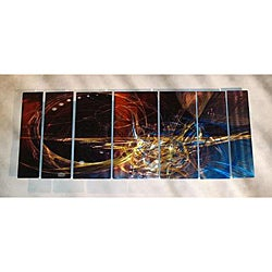 Ash Carl 'Memories' 7-panel Abstract Metal Wall Art