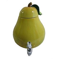 American Atelier 188-oz Ceramic Pear Beverage Dispenser
