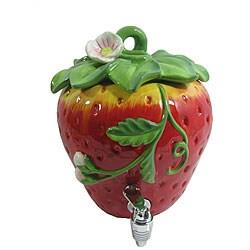 American Atelier 188-ounce Ceramic Strawberry Beverage Dispenser