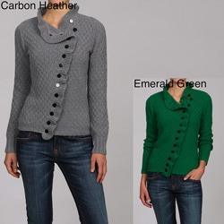 Colour Works Women's Asymmetrical Cardigan