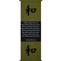Chinese Proverb Scroll Banner (Indonesia)