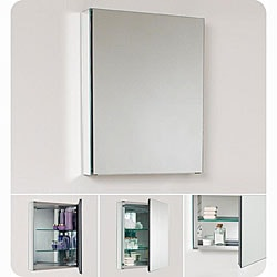 Small Bathroom Mirrors on Fresca Small Bathroom Mirror Medicine Cabinet   Overstock Com
