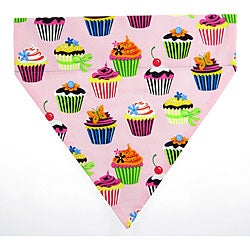 Ruff Stuff USA Pink Cupcakes Dog Collar Bandana